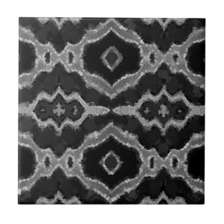 Black&White Abstract Overprint Tile