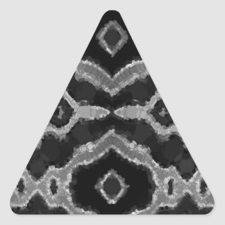 Black&White Abstract Overprint Triangle Sticker