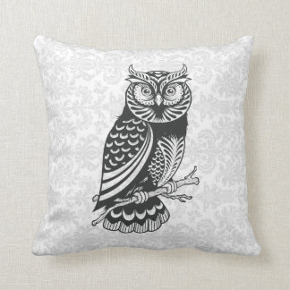 Black & White Abstract Owl Pillows