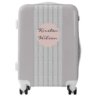 Black & White Abstract Pattern Carry On Luggage