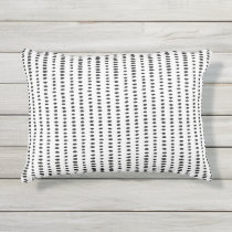 Black & White Abstract Pattern Outdour Pillow