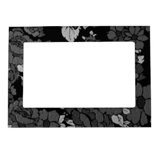 Black&White Abstract Roses Magnetic Frame