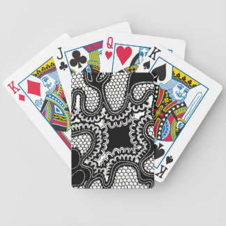 Black & White Abstract Snake Skin Pattern Bicycle Playing Cards