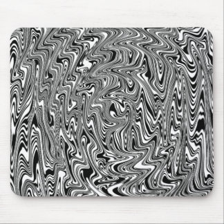Black & White Abstract Swirl Mouse Pad