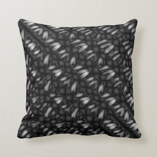 Black & White Abstract Throw Pillow