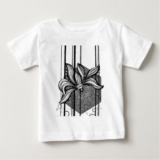 Black & White Abstract Water Lilly T-shirt