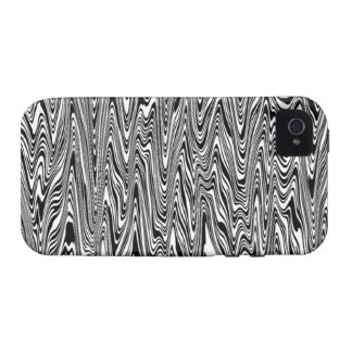 Black & White Abstract ZigZag Swirl iPhone 4/4S Case