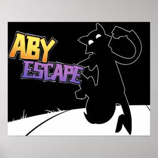 Black & White Aby Escape Poster