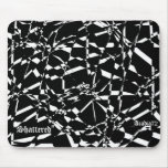 "Black-White, Acadia72, ""Shattered"" Mouse Pad"