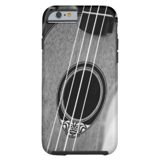 Black White Acoustic Classical Spanish Guitar Tough iPhone 6 Case