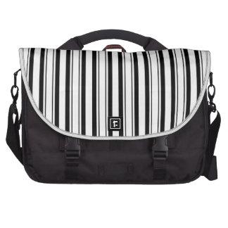Black & White (Add 3rd Color) Commuter Bag