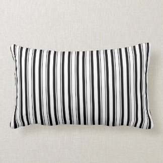 Black White Add 3rd Color Throw Pillows