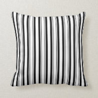 Black & White (Add 3rd Color) Throw Pillow