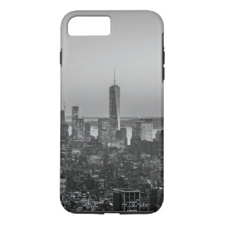 Black & White Aerial View of New York City Night iPhone 7 Plus Case
