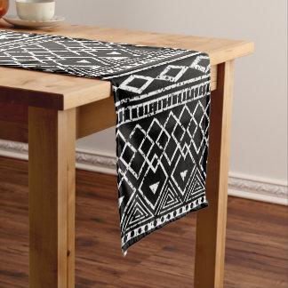 Marvelous Black White African Tribal Pattern Short Table Runner
