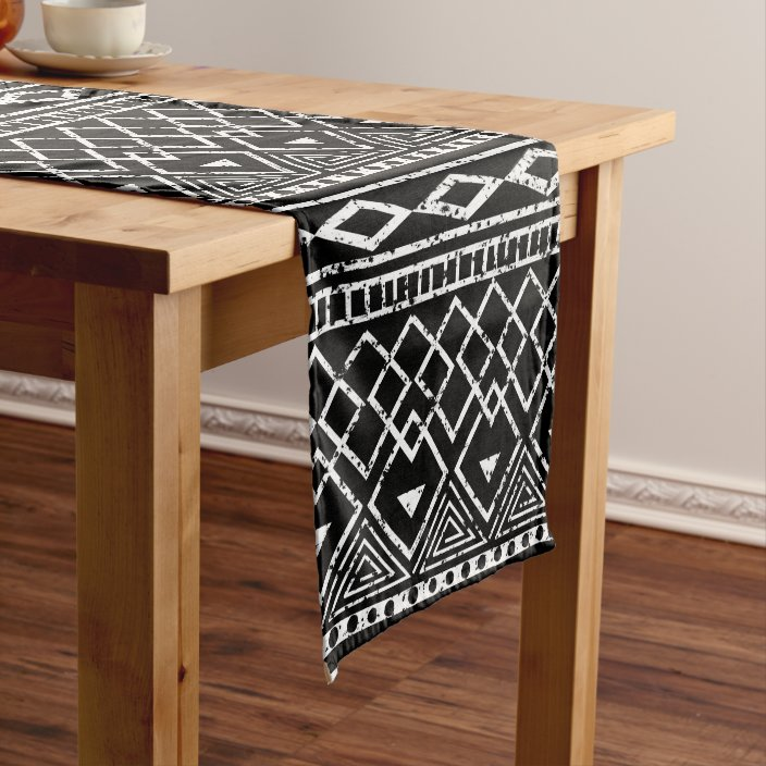 Black White African Tribal Pattern