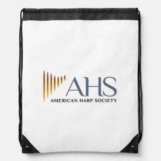 Black & White AHS Drawstring Backpack