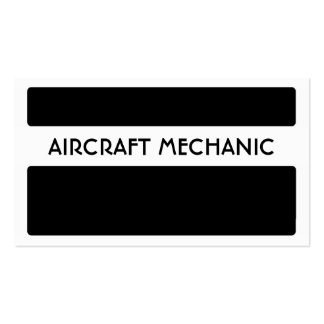 Black white aircraft mechanic business cards