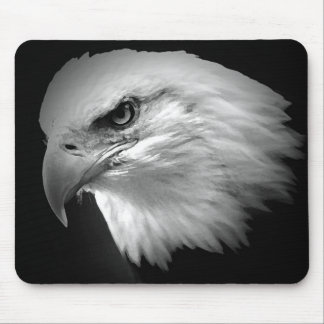 Black & White American Bald Eagle Mouse Pad