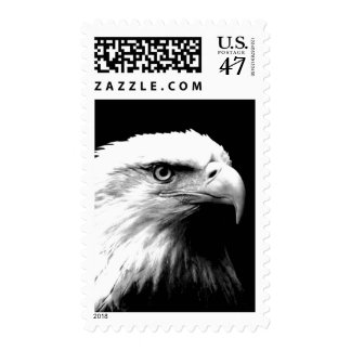 Black & White American Eagle Postage Stamps