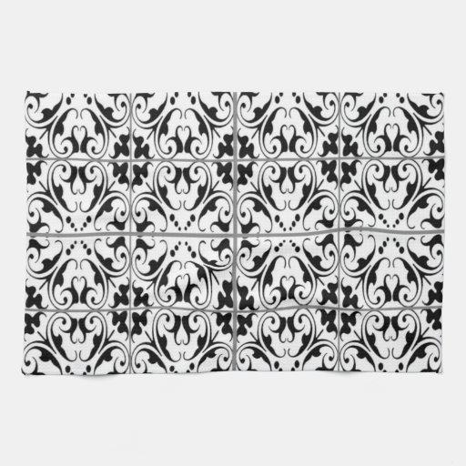 Black & White American MoJo Kitchen Towel
