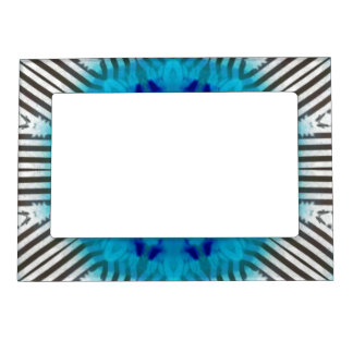 Black White and Blue Abstract  Photo Frame