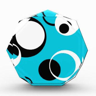 Black white and Blue Circles Acrylic Award