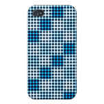 Black White and Blue Halftone Dot Pattern Iphone C iPhone 4/4S Case