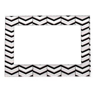 Black White and Blush Chevron Magnetic Frame