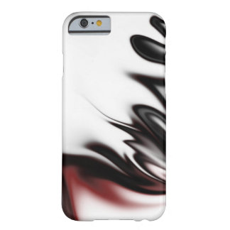 Black White and Crimson Barely There iPhone 6 Case