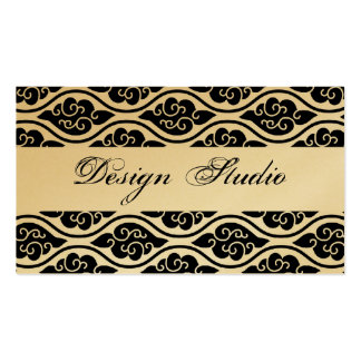 Black White and Gold Business Cards