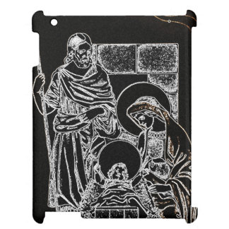 BLACK WHITE AND GOLD NATIVITY CASE FOR THE iPad