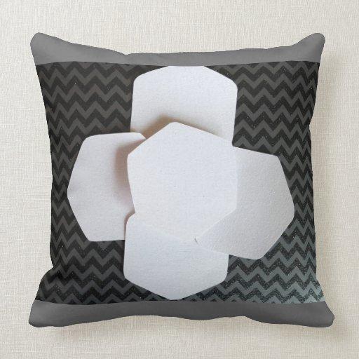 Black White And Gray Throw Pillows : BLACK WHITE AND GRAY ABSTRACT THROW PILLOW Zazzle