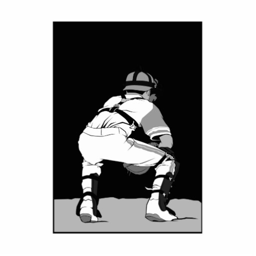 Black White and Gray Catcher.png Photo Sculptures