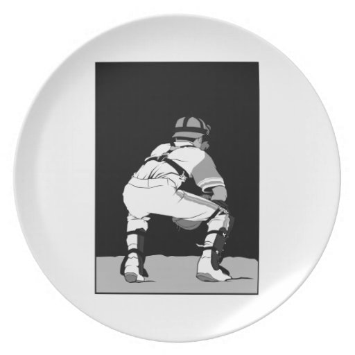 Black White and Gray Catcher.png Plate