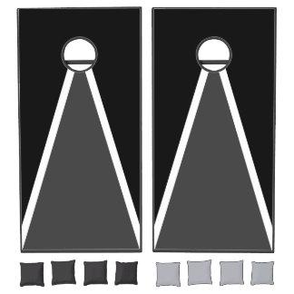 Black, White, and Gray Cornhole Set