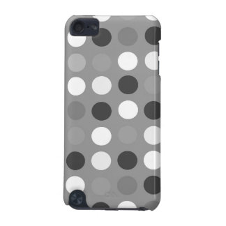 Black, white, and gray dots, iPod hard shell case
