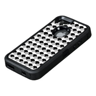 Black, White and Gray Gumdrop Pattern OtterBox iPhone 5/5s/SE Case
