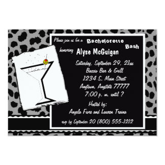 Black White And Gray Leopard Party Invitation