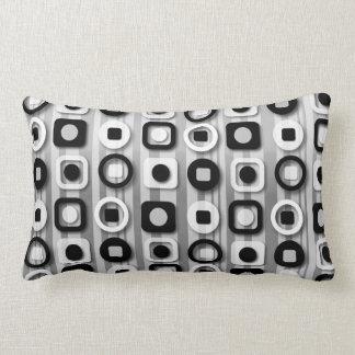 Black White and Gray Modern Pattern Throw Pillows