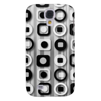 Black White and Gray Modern Pattern Samsung Galaxy S4 Cover