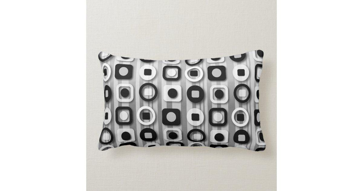 Black White And Gray Throw Pillows : Black White and Gray Modern Pattern Throw Pillow Zazzle