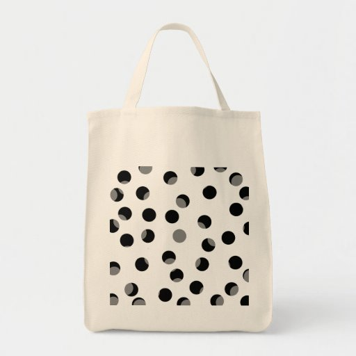 Black, white and gray spotty pattern. canvas bags