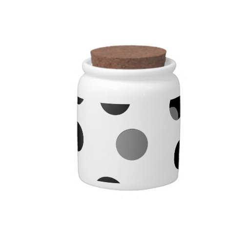 Black, white and gray spotty pattern. candy jar