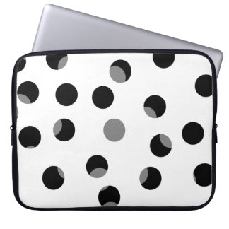 Black, white and gray spotty pattern. computer sleeve