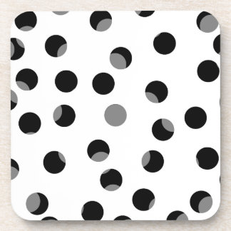 Black, white and gray spotty pattern. coasters
