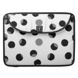 Black, white and gray spotty pattern. sleeves for MacBooks