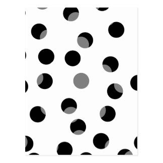 Black, white and gray spotty pattern. postcard