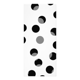 Black, white and gray spotty pattern. customized rack card