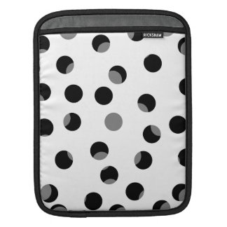 Black, white and gray spotty pattern. sleeve for iPads